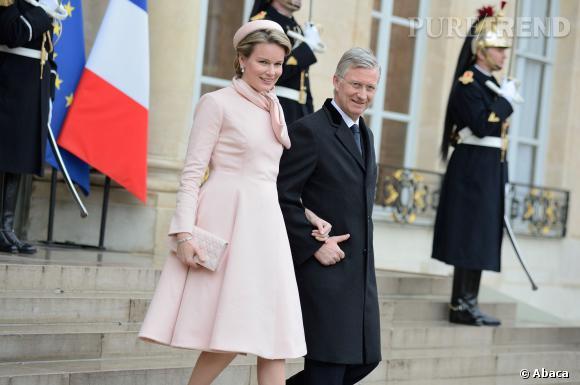 La Reine Mathilde de Belgique et le roi Philippe en visite officielle en France.