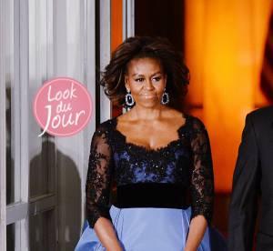 Michelle Obama : une robe de bal majestueuse aux côtés de François Hollande