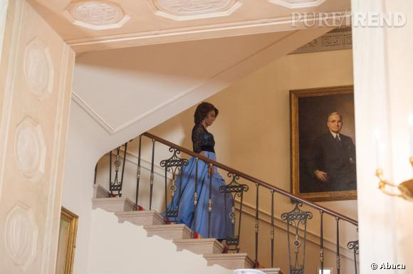 Michelle Obama joue les actrices hollywodiennes dans sa robe.
