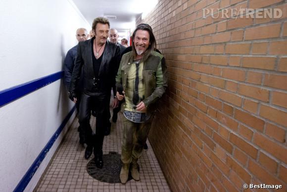 Florent Pagny n'aime pas les Victoires de la musique mais il a quand même quelques amis dans le show business comme Johnny !