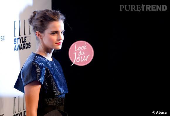 Emma Watson, la poupée sexy des Elle Style Awards 2014.