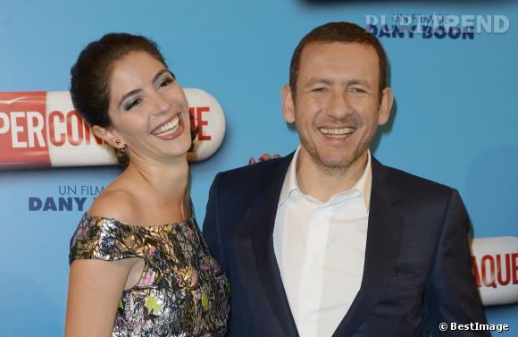 """Dany Boon et sa femme Yaël à l'avant-première du film """"Supercondriaque"""" au Gaumont Opéra à Paris, le 24 février 2014."""