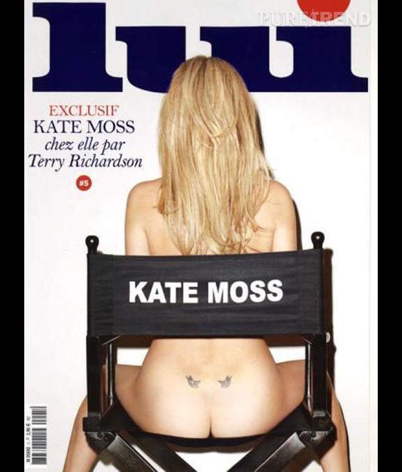 Kate Moss pose nue pour le prochain numéro du magazine Lui.