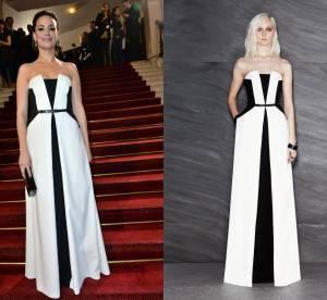 Bérénice Bejo VS le podium : la robe bicolore Maxime Simoëns