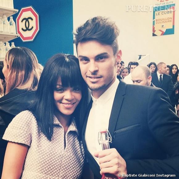 Rihanna et Baptiste Giabiconi, un véritable coup de coeur entre les deux stars.