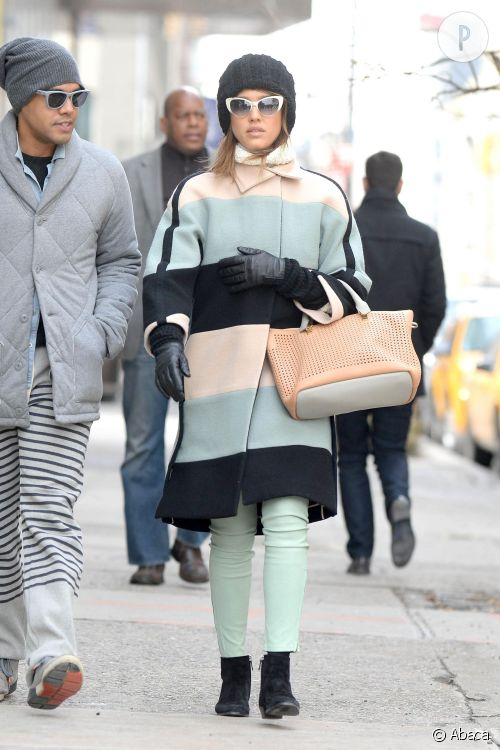 Jessica Alba à New York, un look à copier !
