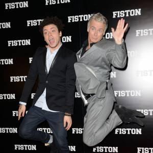 """Kev Adams et Franc Dubosc, les deux comédiens phare de la comédie """"Fiston"""", en salles dès le 12 mars 2014."""