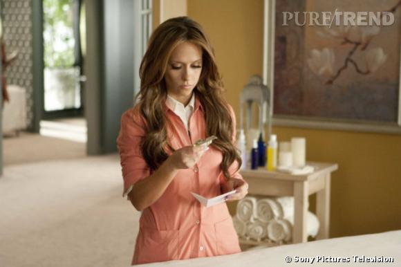 "Jennifer Love Hewitt alias Riley Parks dans ""The Client List""."