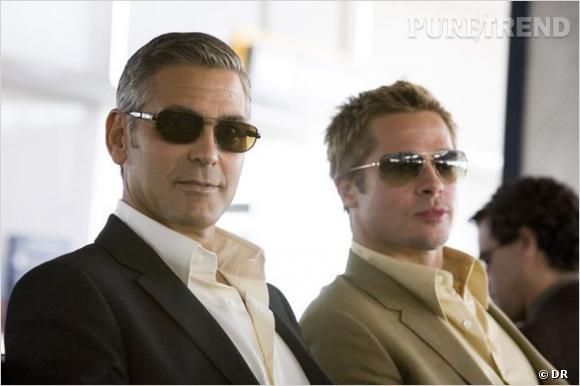 """George Clooney et Brad Pitt, un duo incontournable. Ici dans """"Ocean's 13""""."""