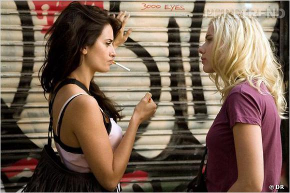 """Penelope Cruz et Scarlett Johansson, rencontre au sommet pour """"Vicky Cristina Barcelona""""."""