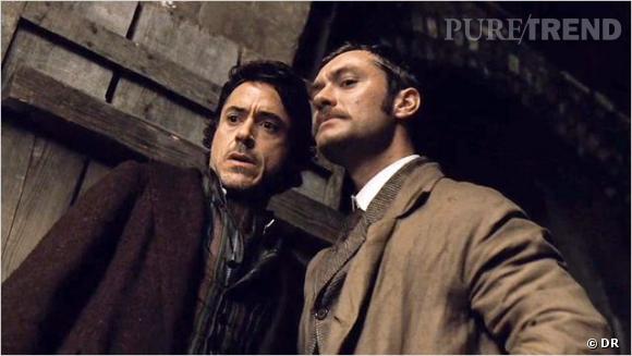 "Robert Downey Jr et Jude Law, deux sex-symboles dans ""Sherlock Holmes"" !"