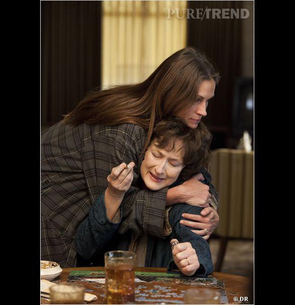 """Julia Roberts et Meryl Streep, deux actrices mythiques dans """"Un été à Osage County"""". Pas étonnant qu'elles aient toutes deux été nominées aux Oscars 2014."""