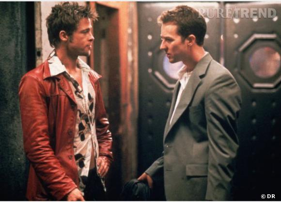 """Brad Pitt vs Edward Norton, le duo qui tue de """"Fight Club""""."""