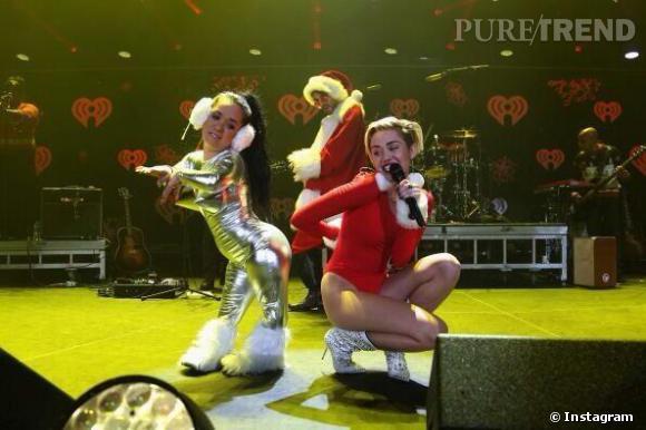 Miley Cyrus sur scène se lâche aussi.