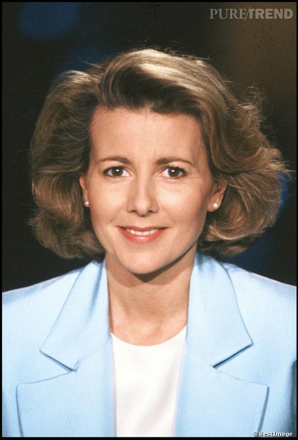 Claire Chazal à ses débuts au JT de TF1, en 1992.