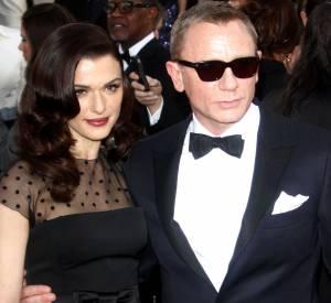 Daniel Craig et sa femme Rachel Weisz, aux Golden Globe Awards le 30 jenvier 2013. Il n'est pas venu avec son petit frère gothique. Dommage.