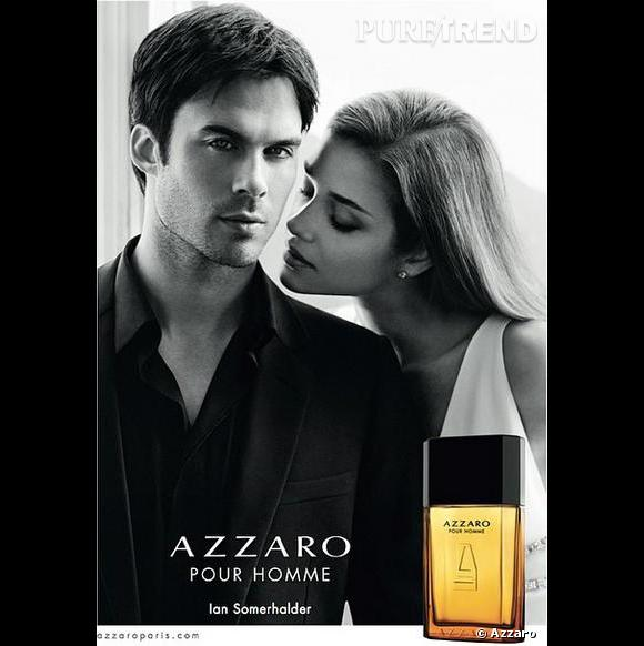 l 39 affiche de la campagne publicitaire du parfum azzaro homme avec ian somerhalder et ana beatriz. Black Bedroom Furniture Sets. Home Design Ideas