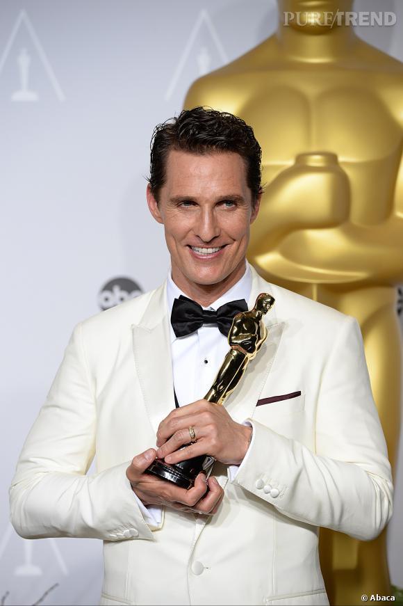 """Matthew McConaughey a décroché l'Oscar du meilleur acteur en 2014 pour """"Dallas Buyers Club""""."""
