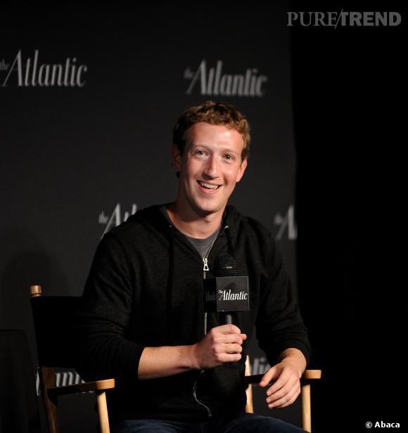 Mark Zuckerberg, le patron de Facebook s'est versé un salaire d'un dollar symbolique pour l'année 2013 rapporte un document officiel, le 31 mars 2014.