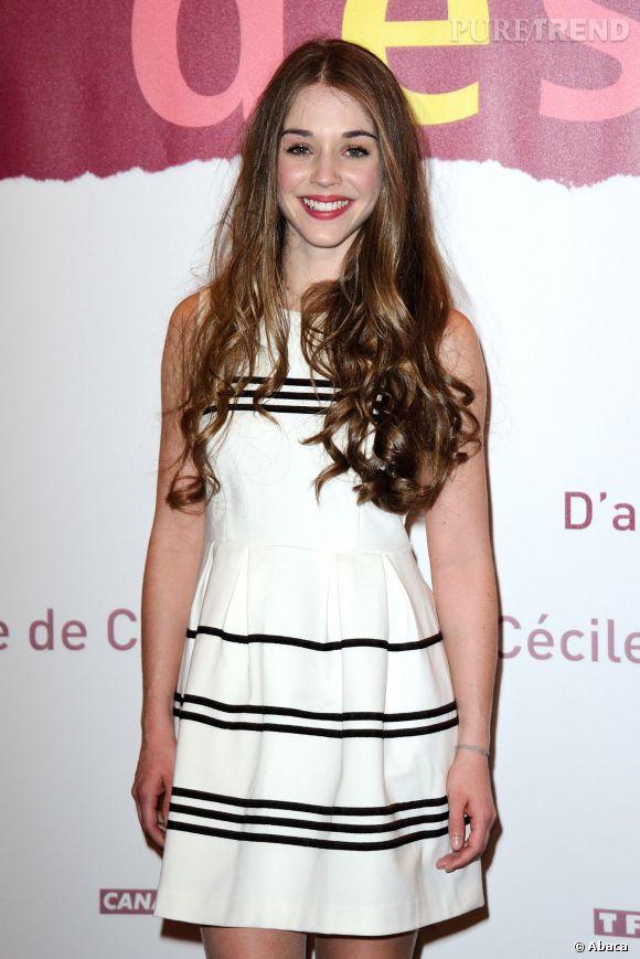 """Alice Isaaz, la pétillante jeune actrice révèle quelques secrets de tournage de """"La Crème de la crème"""", à Non Stop People."""