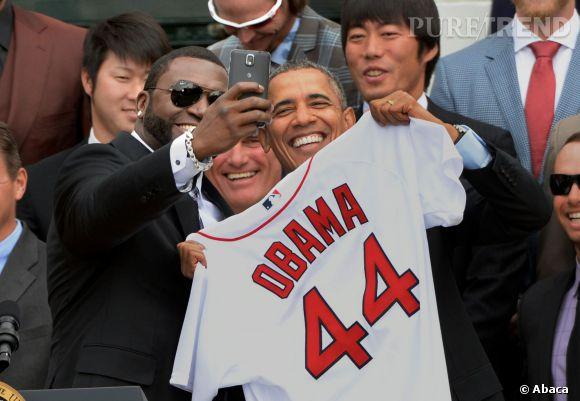 Le selfie posté par David Ortiz sur Twitter le mercredi 2 avril 2014, a déclenché la colère de la Maison Blanche.
