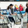 Kate Middleton, compétitrice dans l'âme, elle bat le Prince William durant une course en bateau.