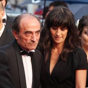 Richard Bohringer et sa fille Romane Bohringer à la cérémonie de clôture du Festival de Cannes en mai 2012.