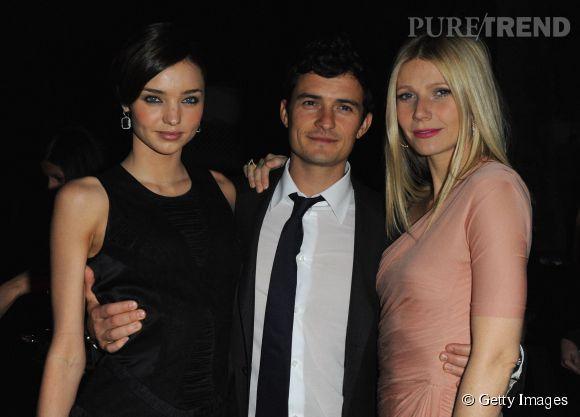 Miranda Kerr, Orlando Bloom et Gwyneth Paltrow en 2013.