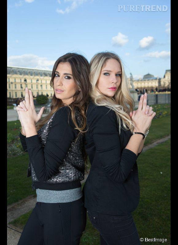 Martika et Louise du Bachelor 2014, deux bombes de retour à Paris pour un shooting fun.