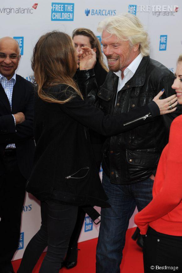 Cressida Bonas et Richard Branson le 7 mars 2014 à Londres. Avec un pareil carnet d'adresse, Cressida devrait convaincre la famille royale de l'adopter.
