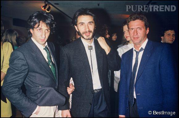 Daniel Auteuil avec Richard Anconina et Richard Berry au concert de Michel Sardou en 1985.