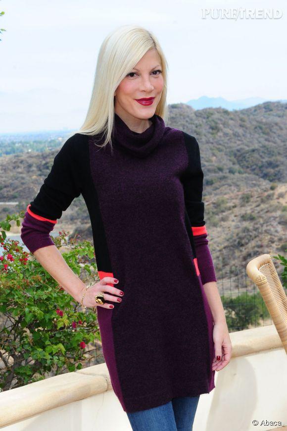Tori Spelling est sortie de l'hôpital de Los Angeles le 24 avril 2014.