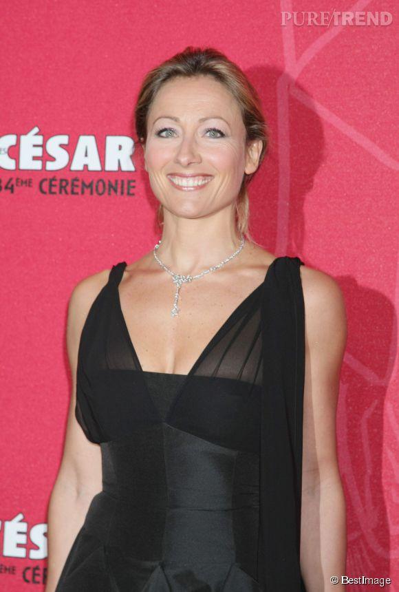 Anne-Sophie Lapix à la cérémonie des César en 2009.