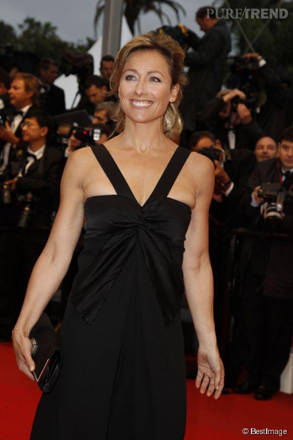 Anne-Sophie Lapix au Festival de Cannes en 2012.