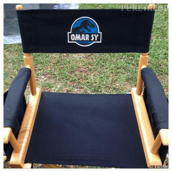"""Omar Sy a tweeté une photo depuis le tournage de """"Jurassic World""""."""