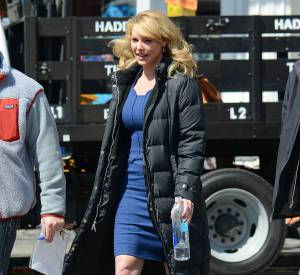 Katherine Heigl sur le tournage de State of Affairs le 27 mars 2014.