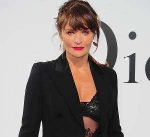 Helena Christensen lors du défilé Croisière 2015 Christian Dior qui s'est déroulé à New-York le 7 mai 2014.