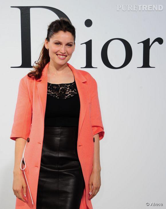 Laetitia Casta, beauté divine lors du défilé Croisière 2015 Christian Dior qui s'est déroulé à New-York le 7 mai 2014.