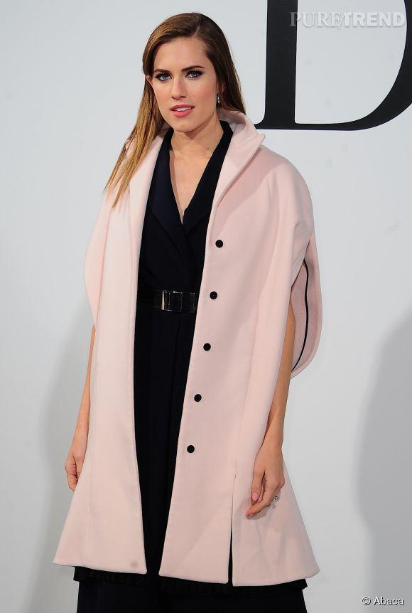 L'actrice Allison Williams lors du défilé Croisière 2015 Christian Dior qui s'est déroulé à New-York le 7 mai 2014.