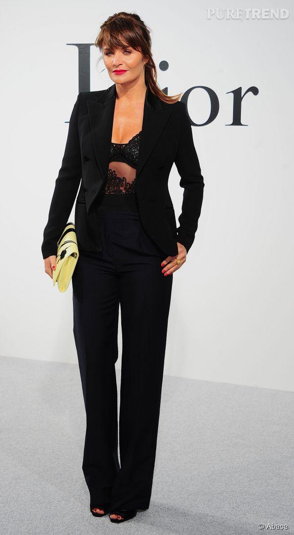 Helena Christensen au défilé Croisière 2015 de Christian Dior le 7 mai 2014 à New-York.