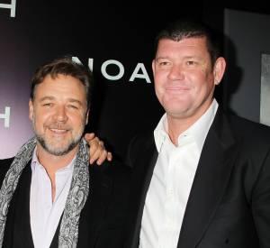 En Australie, James Packer est une célébrité, ici en mars 2014 avec l'acteur Russel Crowe.
