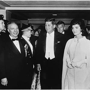 Jackie Kennedy et John Kennedy en janvier 1961.