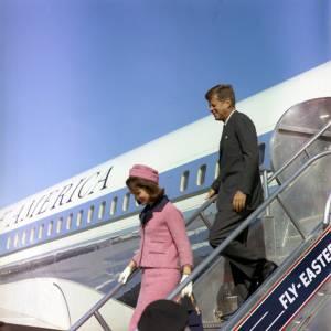 Jackie Kennedy et John Kennedy en 1963.