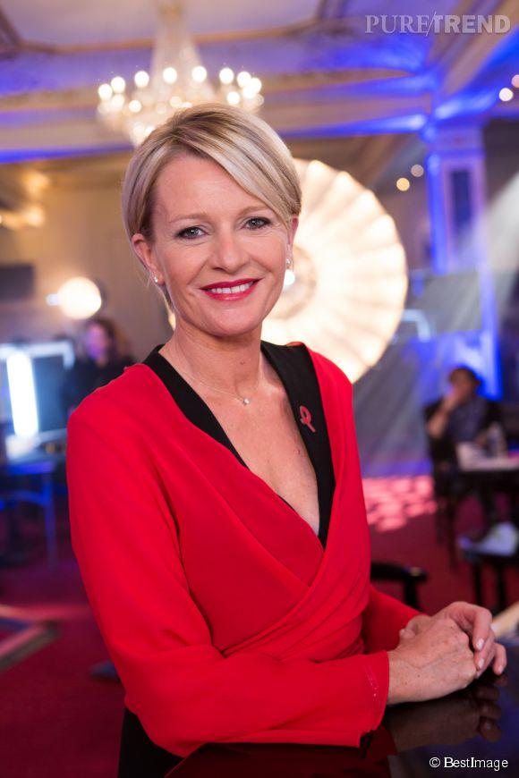 Sophie Davant lors de l'émission La Télé chante contre le sida le 25 mars 2014.