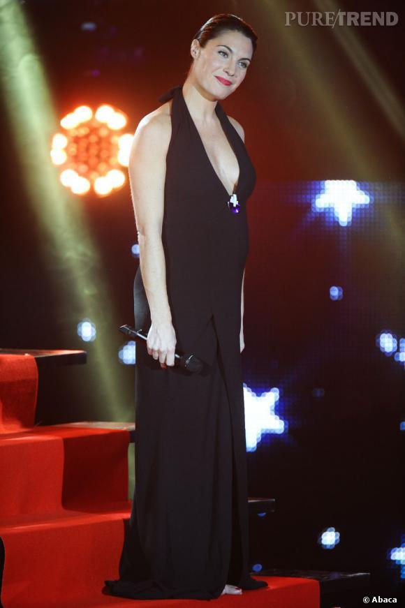 Alessandra Sublet enceinte de sa fille en 2012.