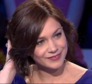 Laurent Ruquier interroge Nathalie Péchalat dans On n'est pas couché, le 24 mai 2014.