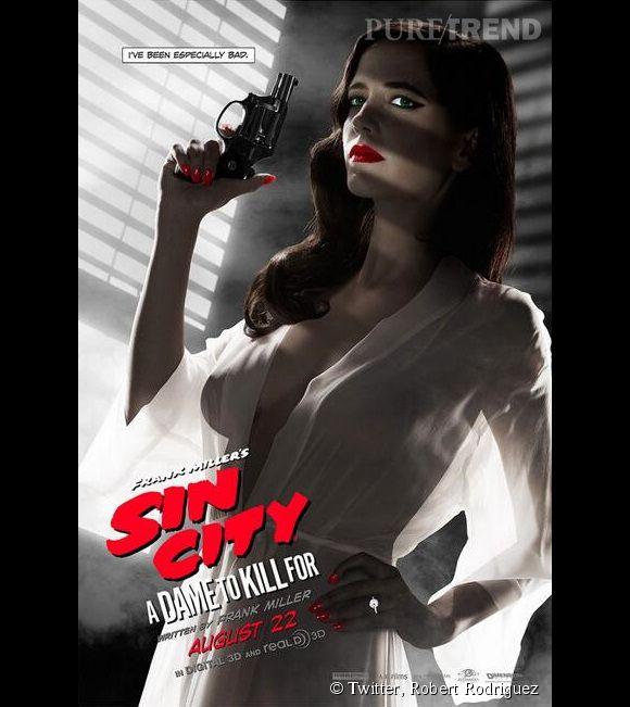 """Eva Green, jugée trop sexy sur l'affiche de """"Sin City : J'ai tué pour elle""""."""