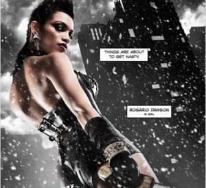 """Rosario Dawson sur l'affiche de """"Sin City : J'ai tué pour elle"""", en salles le 17 septembre en France."""