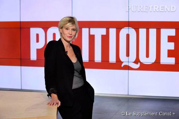 """Maïtena Biraben présente """"Le Supplément"""" sur Canal +."""