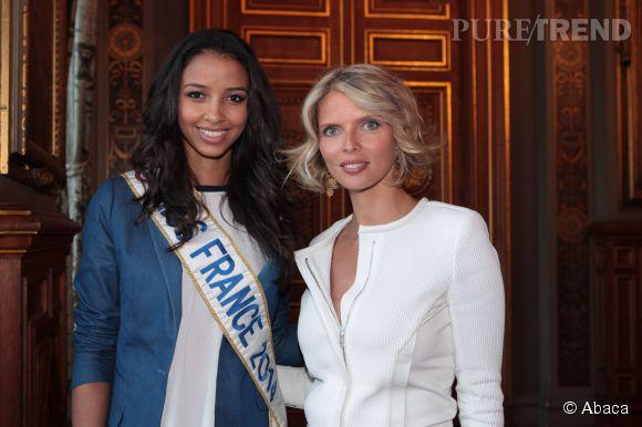 Sylvie Tellier et Miss France 2014, Flora Coquerel.